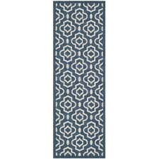 Courtyard Vanessa Blue/Ivory Outdoor Area Rug