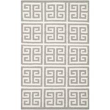 Dhurries Grey / Ivory Rug