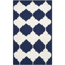 Dhurries Navy / Ivory Rug