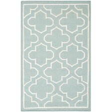 Dhurries Blue / Ivory Rug