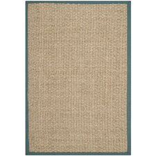 Natural Fiber Natural / Light Blue Rug