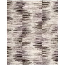 Retro Light Brown / Eggplant Rug