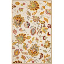 Four Seasons Ivory / Yellow Outdoor Rug