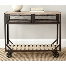 <strong>Safavieh</strong> Shroder Rolling Console Table