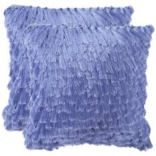 Cali Shag Handloom Polyester Decorative Pillow (Set of 2)