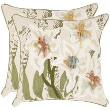 <strong>Safavieh</strong> Belinda Cotton Decorative Pillow (Set of 2)