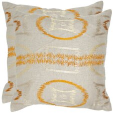 <strong>Safavieh</strong> Reese Linen Decorative Pillow (Set of 2)