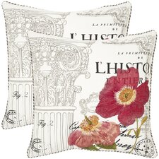 <strong>Safavieh</strong> Bella Cotton Decorative Pillow (Set of 2)