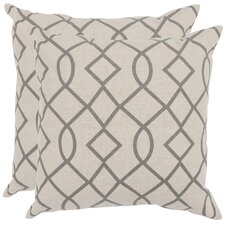 Margie Cotton / Linen Decorative Pillow (Set of 2)