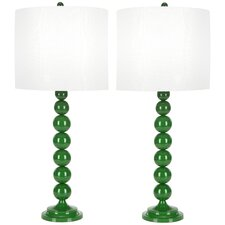 "Stacked Ball 31"" H Table Lamp with Drum Shade (Set of 2)"