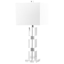 "Ice Palace Cube 28"" H Table Lamp with Drum Shade"