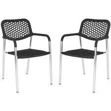 <strong>Safavieh</strong> Sitka Stacking Dining Arm Chair (Set of 2)