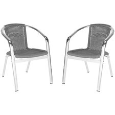 <strong>Safavieh</strong> Wrangell Stacking Dining Chair (Set of 2)