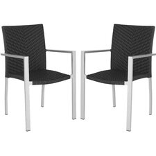 <strong>Safavieh</strong> Cordova Stacking Dining Arm Chair (Set of 2)