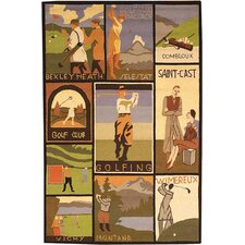 <strong>Safavieh</strong> Vintage Posters Golf Collage Novelty Rug