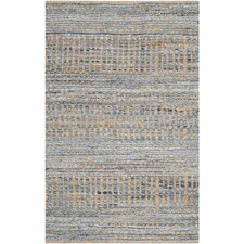 Cape Cod Natural and Blue Area Rug