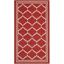 Courtyard Red/Beige Outdoor Area Rug