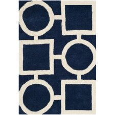 <strong>Safavieh</strong> Chatham Dark Blue / Ivory Rug