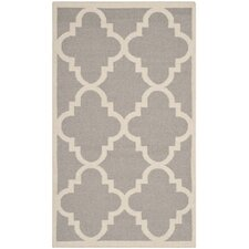 Dhurries Dark Grey/Ivory Rug