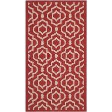 Courtyard Red/Bone Outdoor Rug