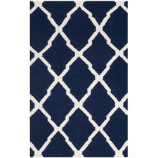 Dhurries Navy/Ivory Rug