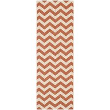 Courtyard Terracotta/Beige Outdoor Rug