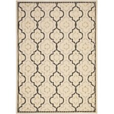 Courtyard Beige/Black Outdoor Area Rug