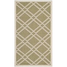 <strong>Safavieh</strong> Courtyard Green/Beige Rug