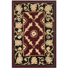 Naples Burgundy / Black Rug