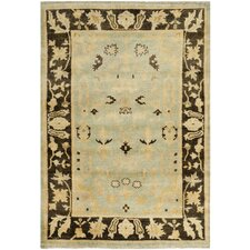 <strong>Safavieh</strong> Oushak Light Blue / Brown Rug