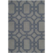 <strong>Safavieh</strong> Dhurries Grey/Dark Blue Rug