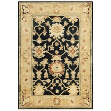 Oushak Black / Light Gold Rug