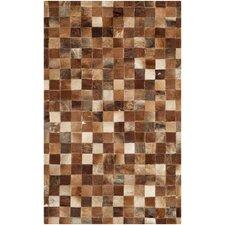 Studio Leather Brown / Light Brown Rug