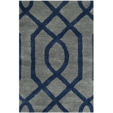 Soho Grey / Dark Blue Rug