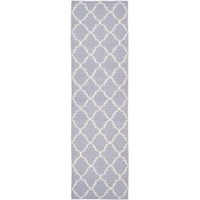 Dhurries Purple/Ivory Area Rug