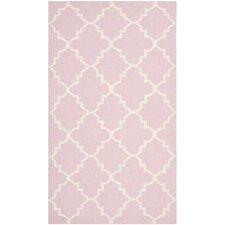 Dhurries Pink/Ivory Rug