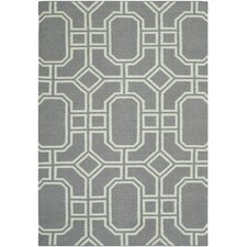 <strong>Safavieh</strong> Dhurries Grey/Light Blue Rug