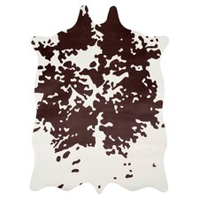 Faux Hide Brown & White Area Rug