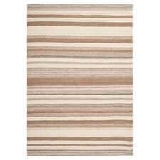 Dhurries Natural/Camel Area Rug