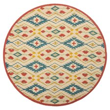 Four Seasons Natural / Blue Outdoor Rug