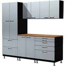 16 Piece Counter Station Storage Cabinet Set