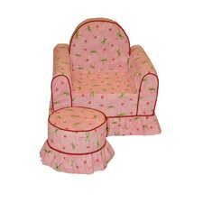 <strong>Fun Furnishings</strong> Vanity Chair and Ottoman Set
