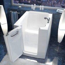 """Durango 38"""" x 38"""" Soaking Walk-In Bathtub in White"""
