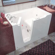 "Crescendo 60"" x 36"" Whirlpool Jetted Walk-In Bathtub"