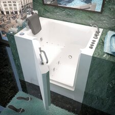 "Catalina 39"" x 27"" Whirlpool & Air Jetted Walk-In Bathtub"