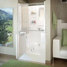 "Mesa 40"" x 31"" Whirlpool & Air Jetted Walk-In Bathtub"