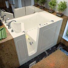 """Ashton 53"""" x 30"""" Whirlpool & Air Jetted Walk-In Bathtub"""