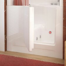"Telluride 47"" x 27"" Right Drain Whirlpool Jetted Walk-In Bathtub in White"