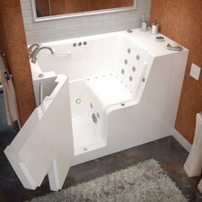 """Mohave 52"""" x 29"""" Whirlpool & Air Jetted Wheelchair Accessible Walk-In Bathtub"""