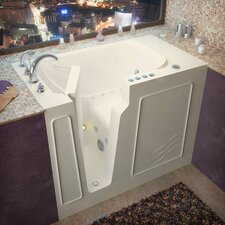 "Flagstaff 52"" x 29"" Whirlpool and Air Jetted Walk-In Bathtub"